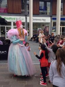 Glinda granting wishes in Bradford