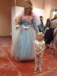 Glinda and a young friend at Dockfield Road Open Studios